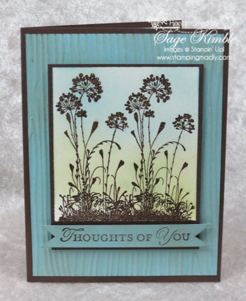 Focal point for handmade card with Serene Silhouettes