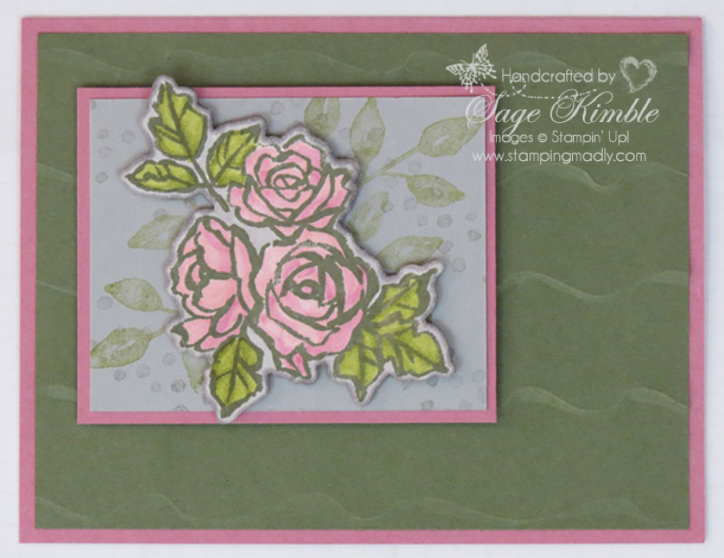 Handmade Petal Palette Card from Stamping Madly