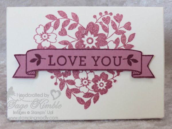 Feminine Valentine made with Bloomin' Love Stamp Set from Stampin' Up!
