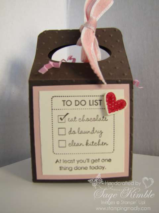 Eat Chocolate Gable Box from www.stampingmadly.com