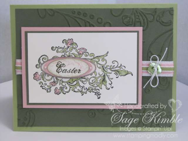 Handmade Easter Card with Stampin Ups Elizabeth Stamp – Easter Cards Stampin Up