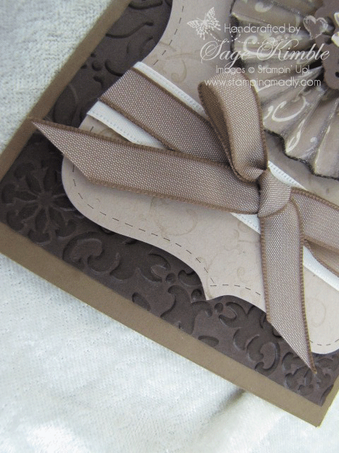 Vintage Wallpaper Embossing Folder from Stampin' Up!