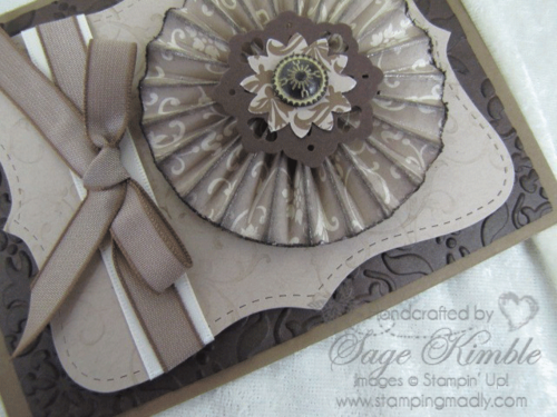 Accordion Fold Medallion from Stamping Madly
