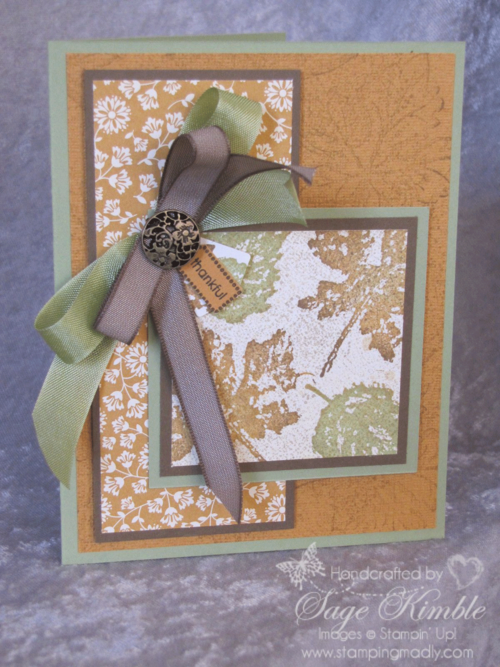 Spice Cake Designer Series Paper from Stampin' Up!