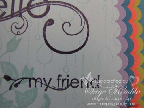 Detail, My Friend from Stampin' Up!