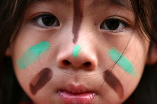 Child with painted face_1644546