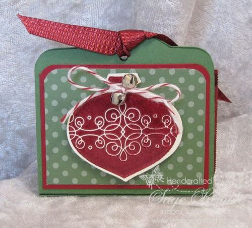 Free Tutorial A Christmas Favor from Stamping Madly