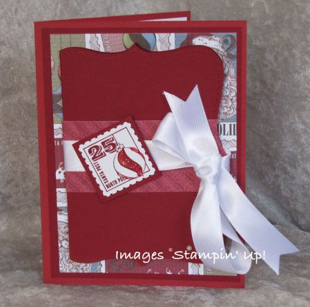 Handmade Gift Card Holder And Christmas Card Stamping Madly