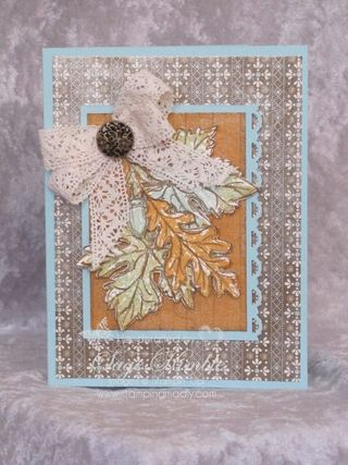Spice Cake DSP and Gently Falling Stamp set
