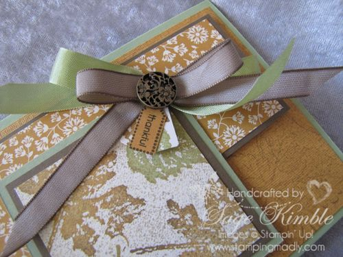 Layered Bow with Pear Pizzazz and Soft Suede Ribbons