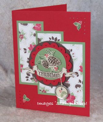 Holly Berry and Pines & Poinsettias from Stampin' Up1