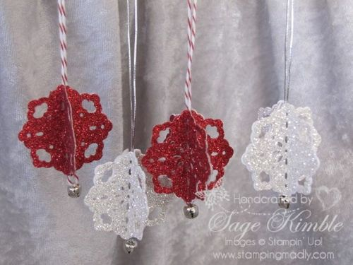 Snowflake Ornaments from Stamping Madly