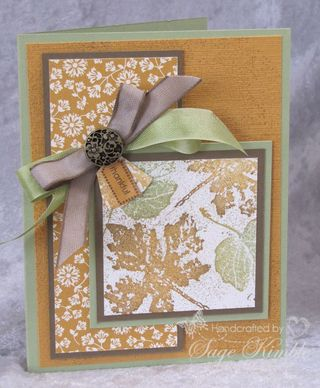 Spice Cake and Gently Falling from Stampin' Up!