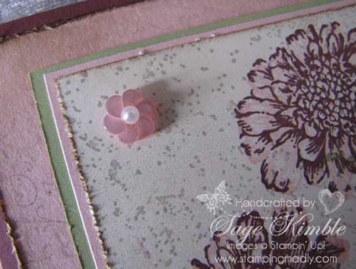 Twitterpated Button and Basic Pearl from Stampin' Up!
