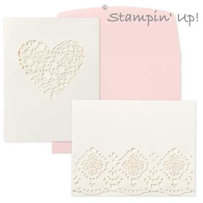Designer Cuts  laser-cut cards from Stampin' Up!