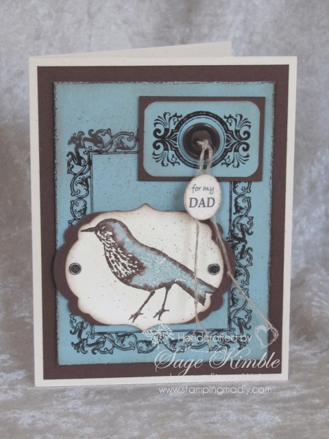 Handmade Father's Day card with Papaya Collage from Stampin' Up!