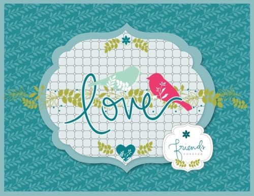 Friends Forever Card using Walk in the Park Digital Kit