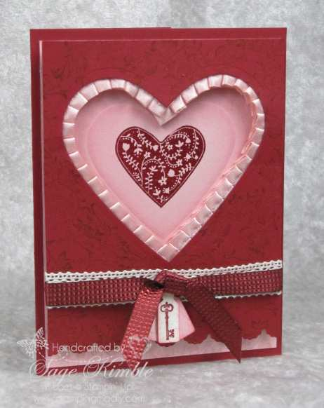 handmade Valentine with Take it To Heart stamp set