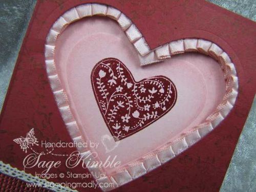 Take It To Heart stamp set and Hearts Framelits