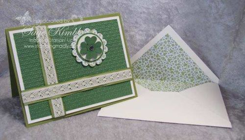 St. Patrick's Day Card & Envelope