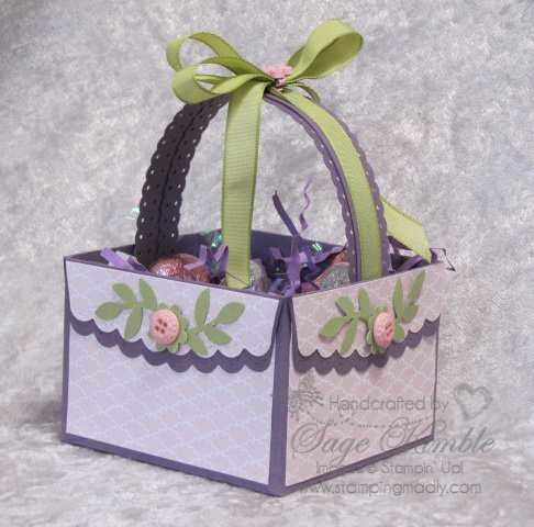 Handmade Easter Basket from StampingMadly.com