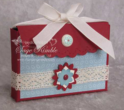 Scallop Envelope Box from Stamping Madly