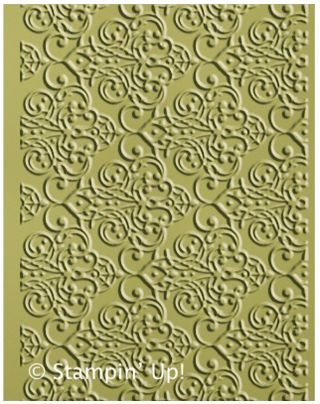 Click Here to Order the Lacy Brocade Embossing Folder from Stampin' Up!