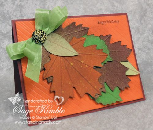Autumn Accents Birthday Card from Stamping Madly