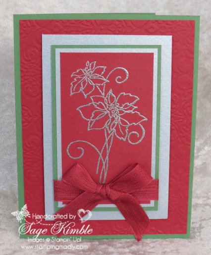 FREE instructions for Christmas Blessings card to newsletter subscribers