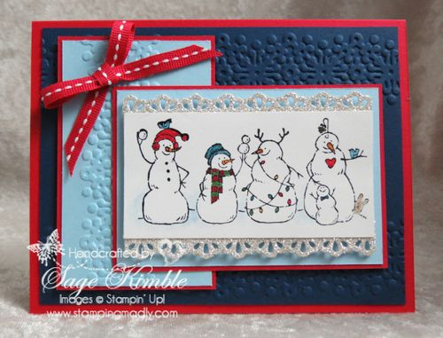 Get FREE Instructions to make this Christmas Card using the Frosty Friends Stamp Set
