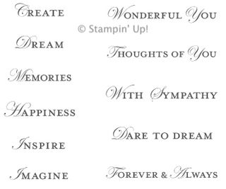 Click here to order Loving Thoughts from Stampin' Up!