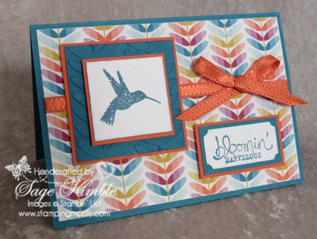 Handmade card using Bloomin' Marvelous and Sycamore Street items FREE during Sale-a-Bration