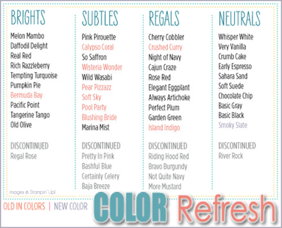 Color Refresh Chart from Stampin' Up!