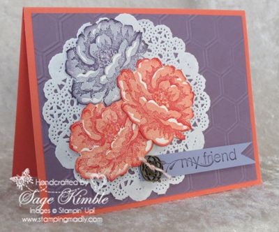 Learn to make this all occasions Stippled Blossoms Card in the Stamping Madly Newsletter