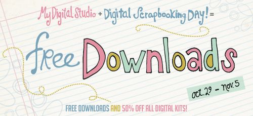 Celbrate Digital Scrapbooking Day with free downloads and half-price kits from Stampin' Up!