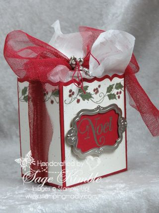 Fancy Favor Die and Christmas Blessings stamp set from Stampin' Up!