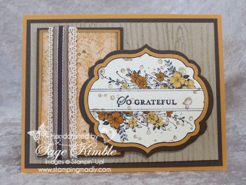Apothecary Art stamp in a handmade Thanksgiving card from Stamping Madly
