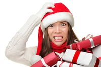 Christmas-stress--busy-woman--23861735
