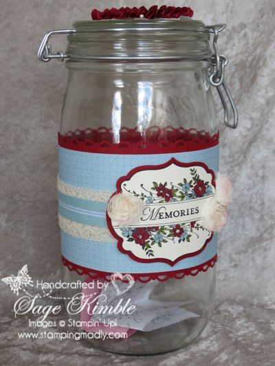 Apothercary Art Memories Jar for 2013 from Stamping Madly