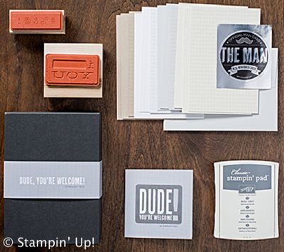 Click here to order the Dude, You're Welcome! Kit from Stampin' U[!