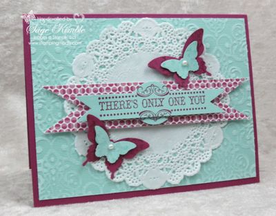 Butterflies and Doily Card