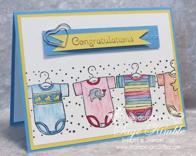 Handmade Congratulations card for a new baby