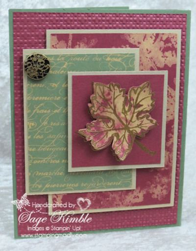 Join Mad Stampers Club and make the Gently Falling card using the Bleach Technique