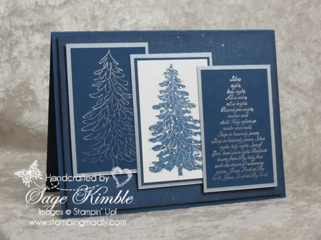 An Evergreen Christmas.An Evergreen Christmas Stamping Madly