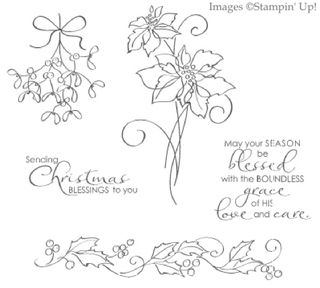 Click here to order the Christmas Blessings Stamp Set from Stampin' Up!