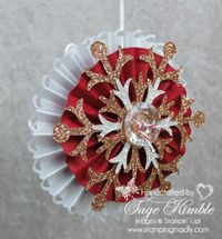 Handmade Christmas Ornament from Stamping Madly