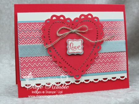Free instructions for handmade valentine with More Amore DSP