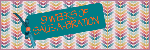 Clcik here to sign up for the 9 Weeks of Sale-a-Bration FREE paper craft projects