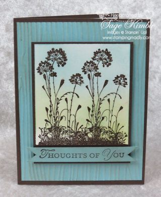 Handmade card using Serene Silhouettes from Stamping Madly