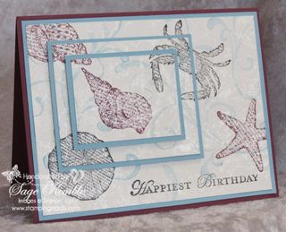 Mad Stampers Club project using By the Seashore stamp set from Stampin' Up!